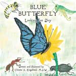 Blue Butterfly - Looking for Joy Book Jacket