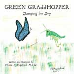 Green Grasshopper - Jumping for Joy Book Jacket